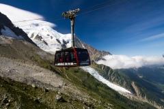 Lanovka na Aiguille du Midi 3842m