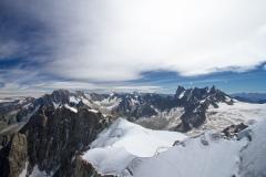 Výhledy z Aiguille du Midi 3 842m