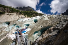 Ledovec Mer de Glace v 1 913 m