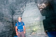 V ledovci Mer de Glace v 1 913 m